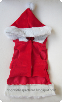 santa claus dog costume patterns