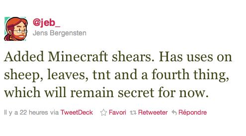 Minecraft 1.7 cisailles