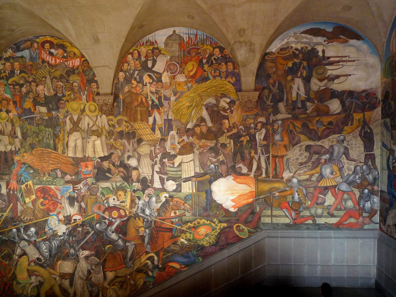 Snapshots from our journey murals mourning moving for Diego rivera famous mural