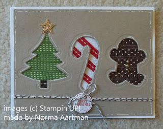 card made with Stampin'UP! Framelits Holiday Collection