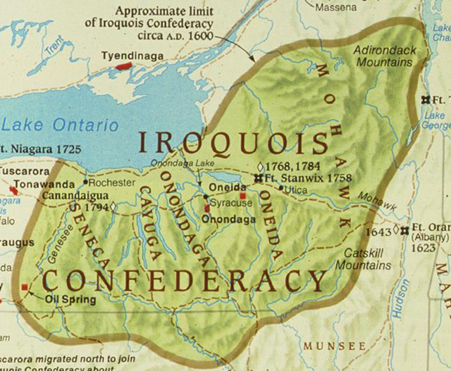 Iroquois Confederacy Map Pin Iroquois-map on Pi...