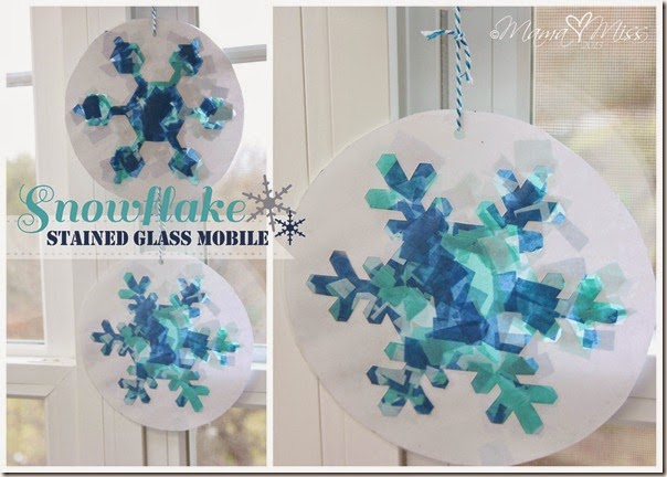 Stained Glass Paper Snow Flakes