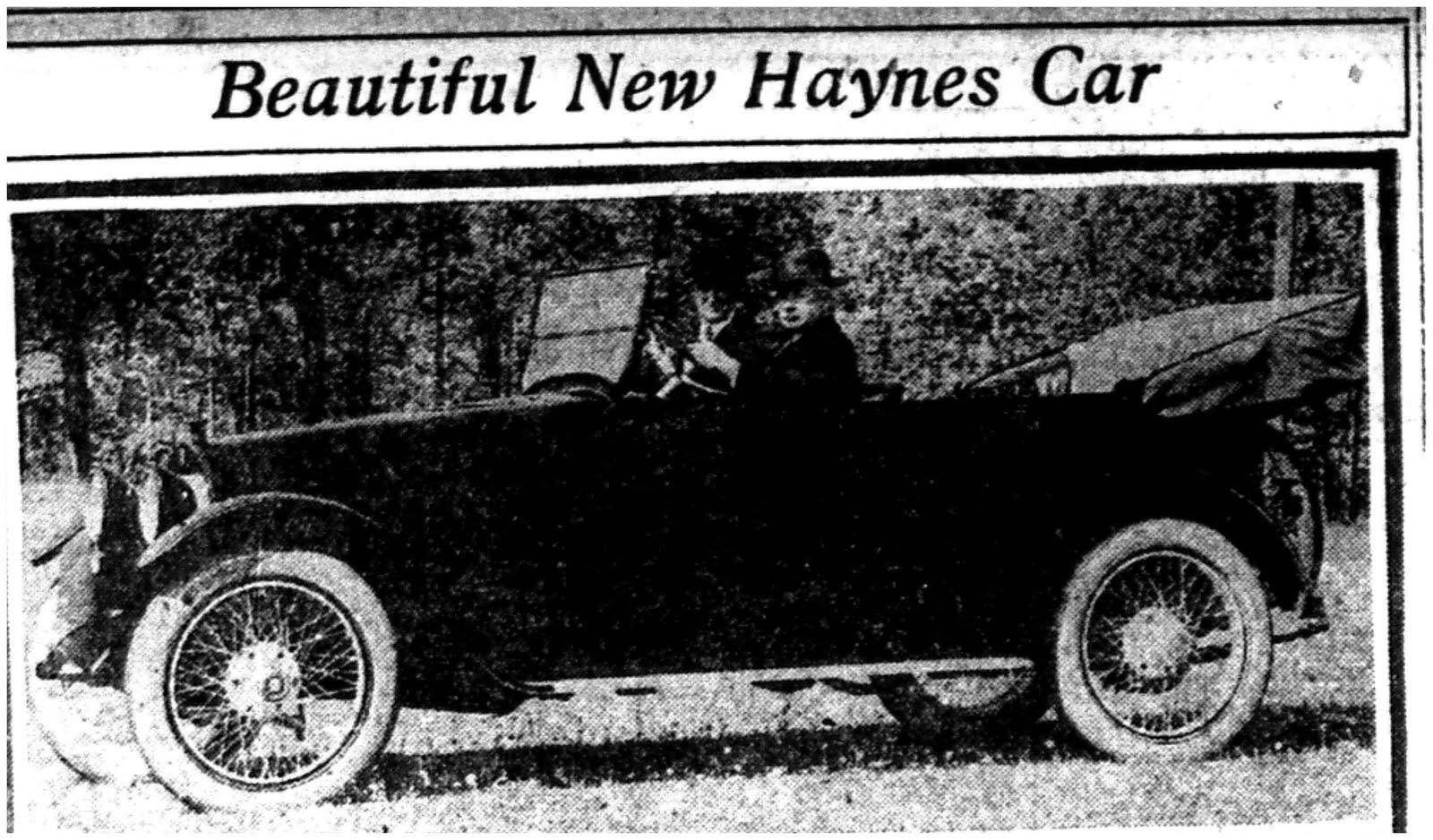 1918 Haynes Car