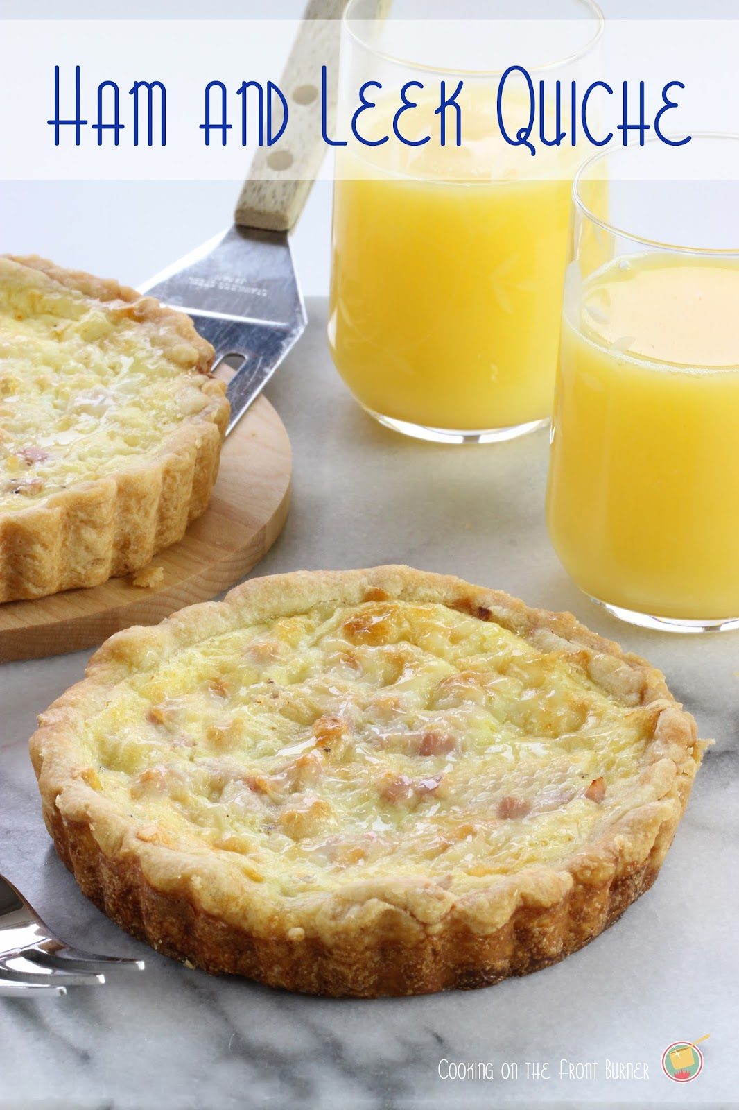 Ham and Leek Quiche | Cooking on the Front Burner #quiche #breakfast