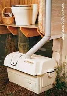 Inodoro ecológico sin agua con sistema para hacer composta