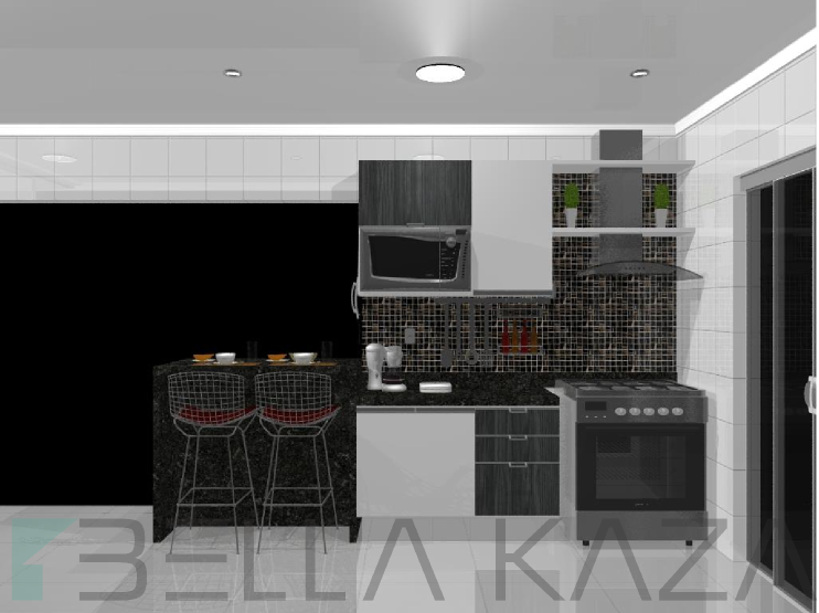 cozinha projetada americana