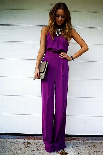 street style: simply gorgeous and classy puple jumpsuit