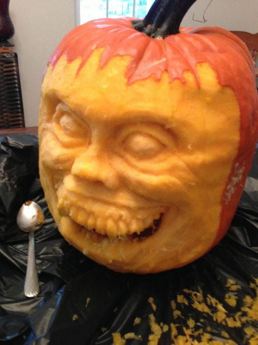 Diy Fright Night Pumpkin This Halloween Damn Cool Pictures