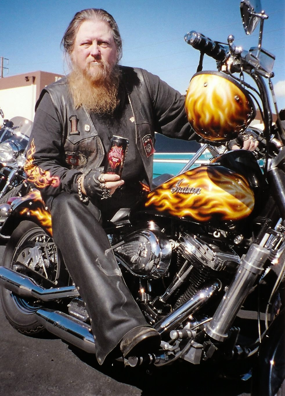 Mickey Jones On His Indian Scout