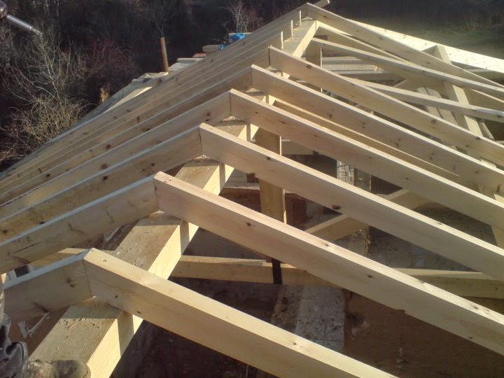 Estructura de madera sin mecanizar