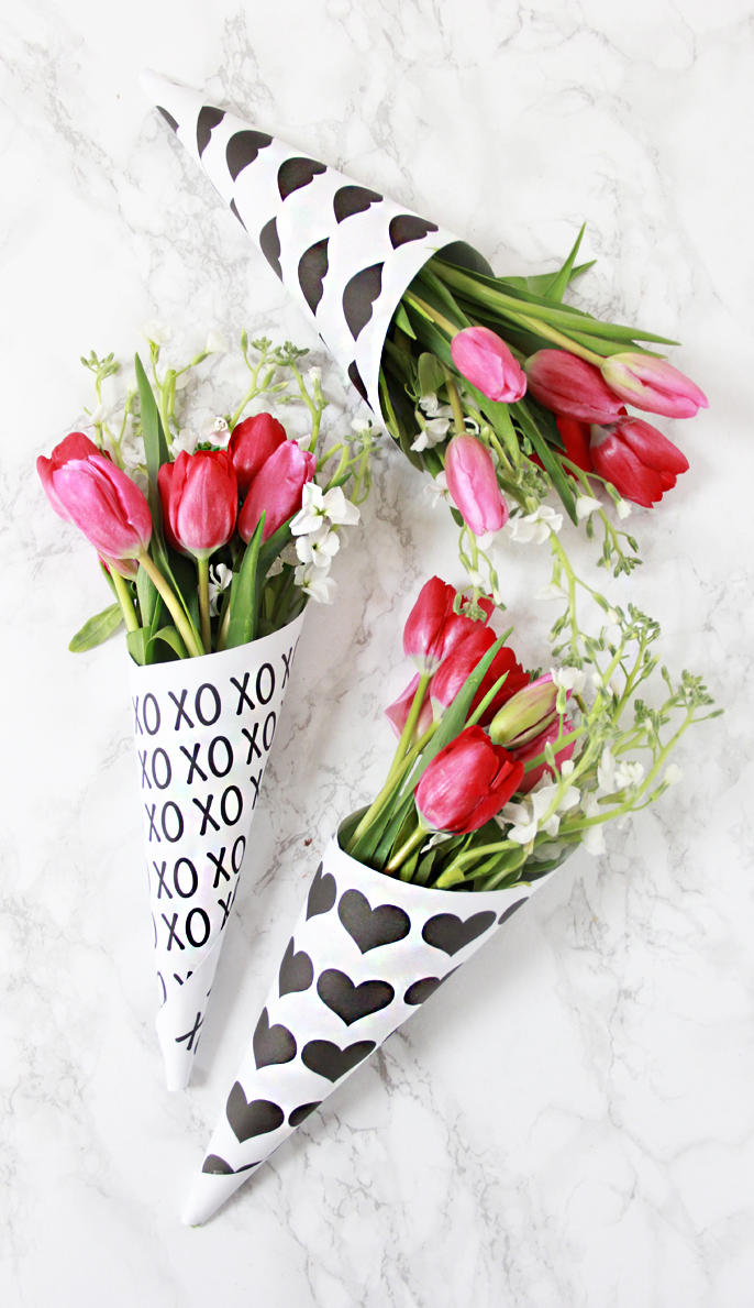 a bubbly life diy valentine free printable flower bouquets