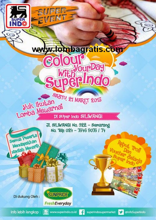 Lomba Mewarnai Colour Your Day with Super Indo