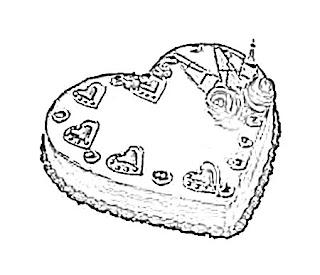 Love Cake Sketch