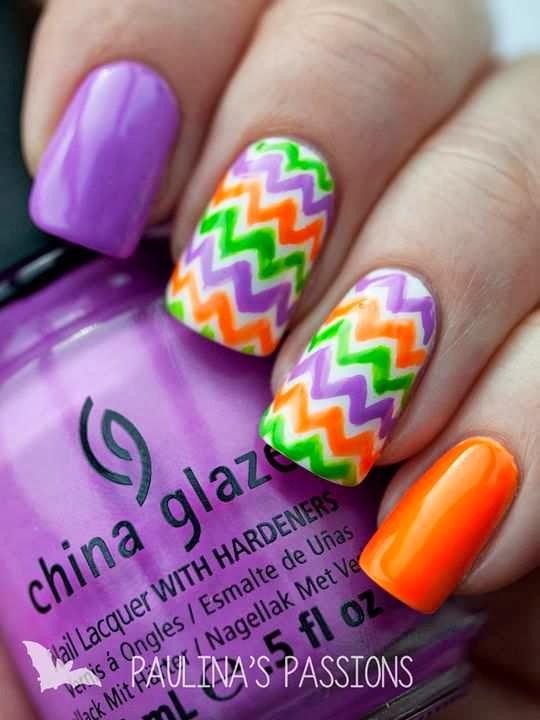 Chevron Nails | Nail Designs