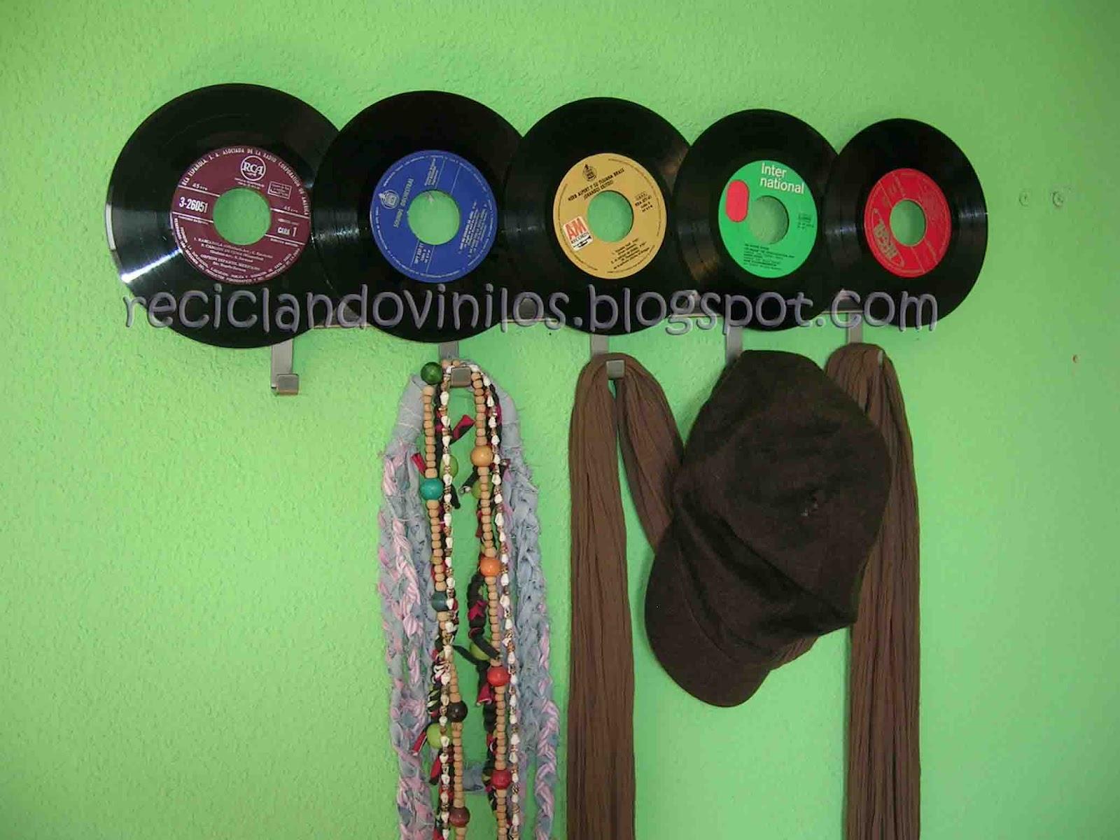 Itziar reciclando vinilos decoraci n con vinilos - Decoracion con discos de vinilo ...