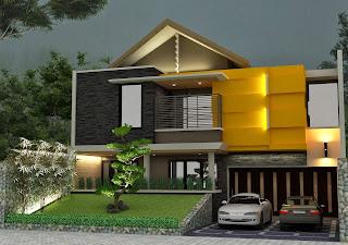rumah minimalis kontemporer: konsep desain tropis