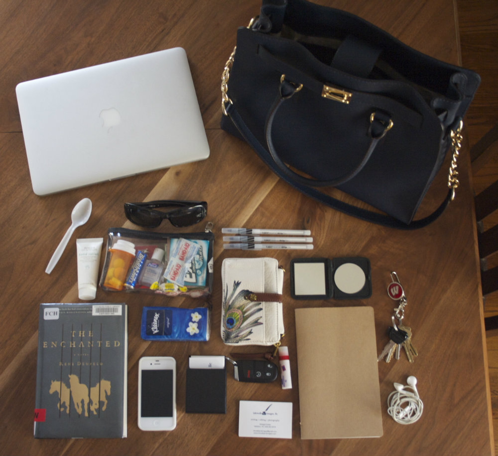What's In Your Bag Bangalore India