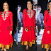 Deepika Padukune in Red Full Sleeves Salwar