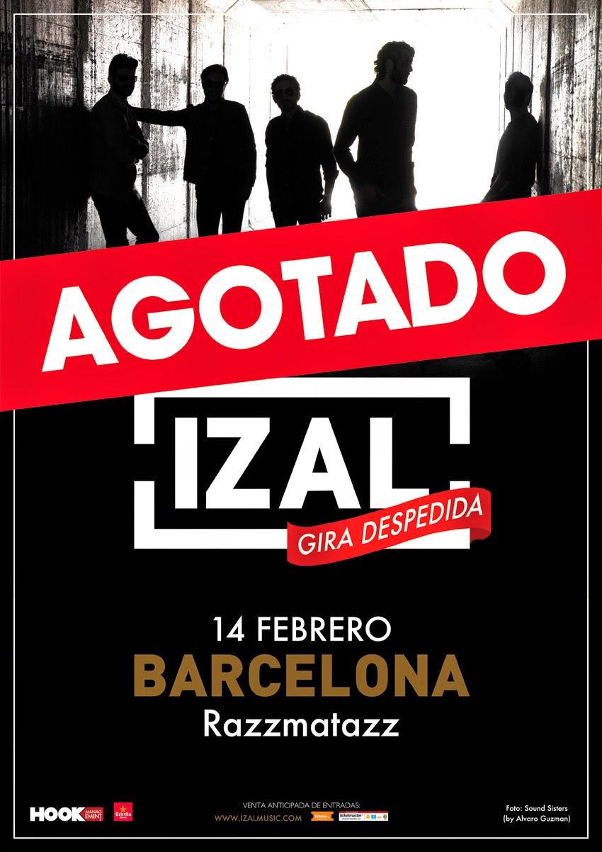 IZAL en concierto Sábado, 14 febrero en la Sala RazzMatazz de BARCELONA