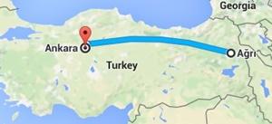 Ağrı-Ankara Seyahati