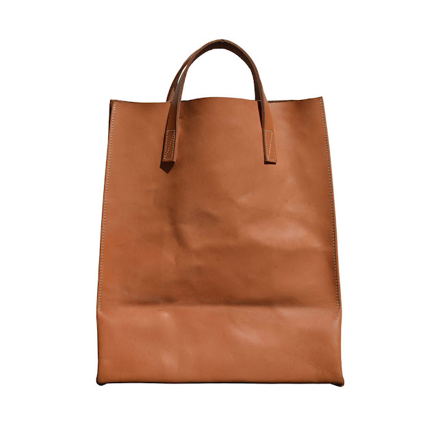 leather grocery bag