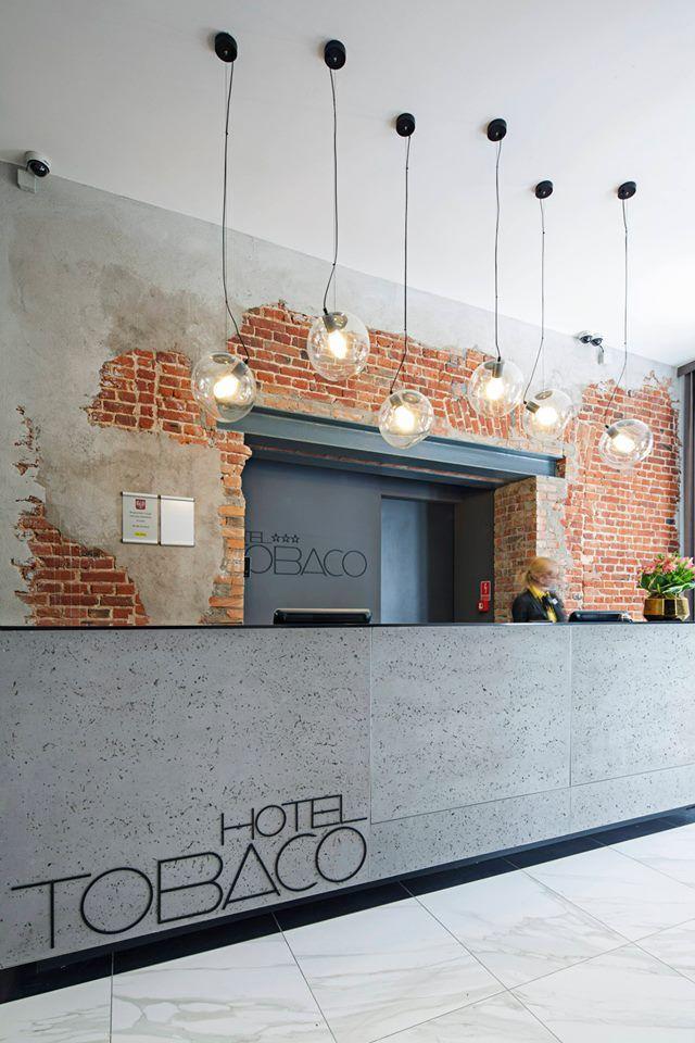 Reception Desks In Raw Industrial Style