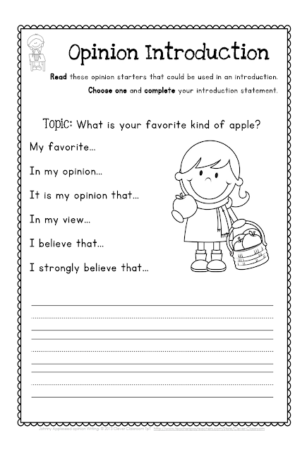 Johnny Appleseed Opinion Writing Broken Down - Clever Classroom Blog