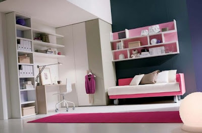 interior kamar remaja anak perempuan minimalis
