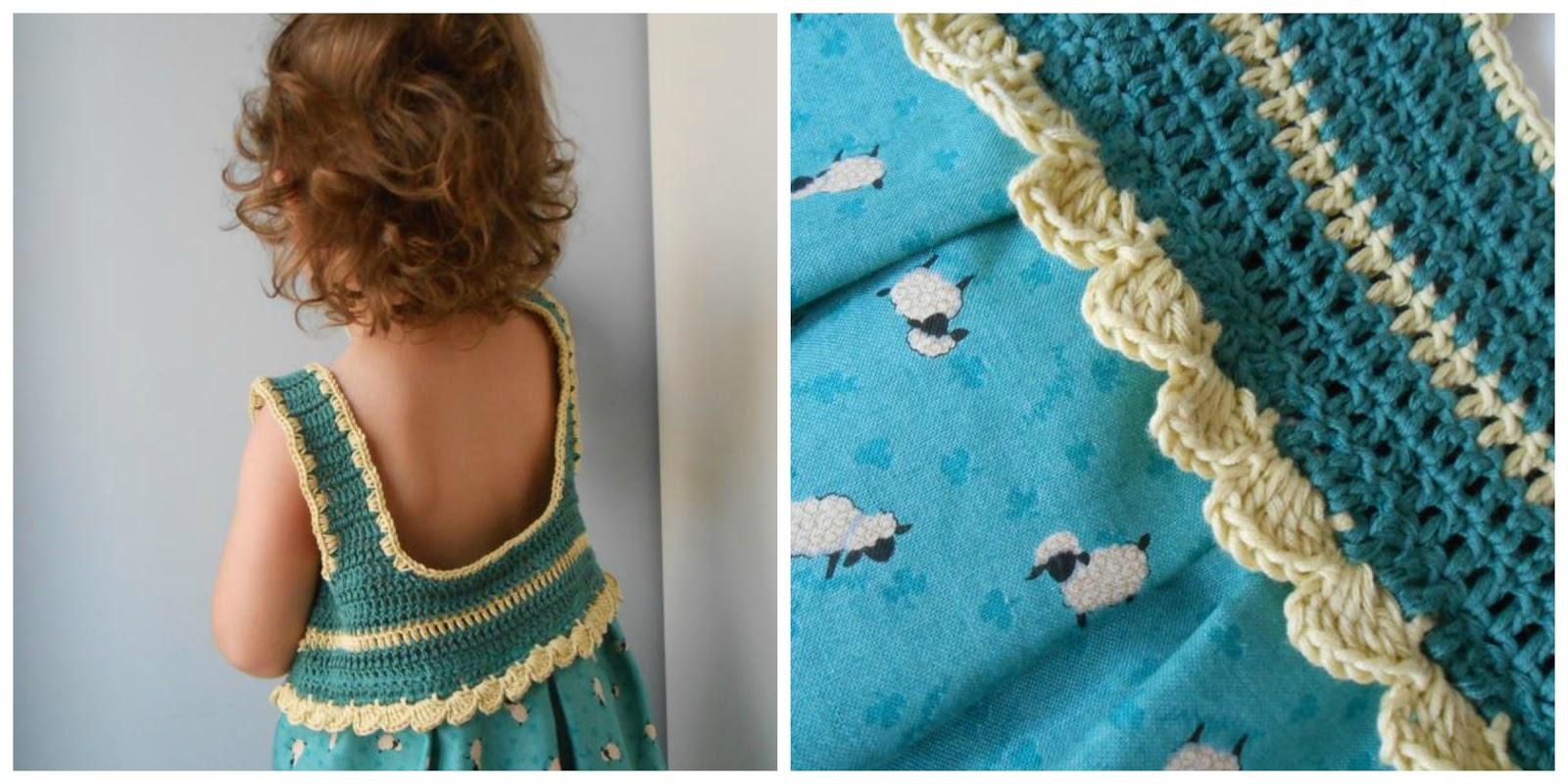 Crochet Materials : love the crochet dress with the lambs ... I looooooove.... looooove ...