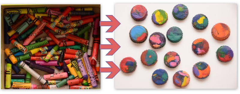 made in mommyland recycled crayons