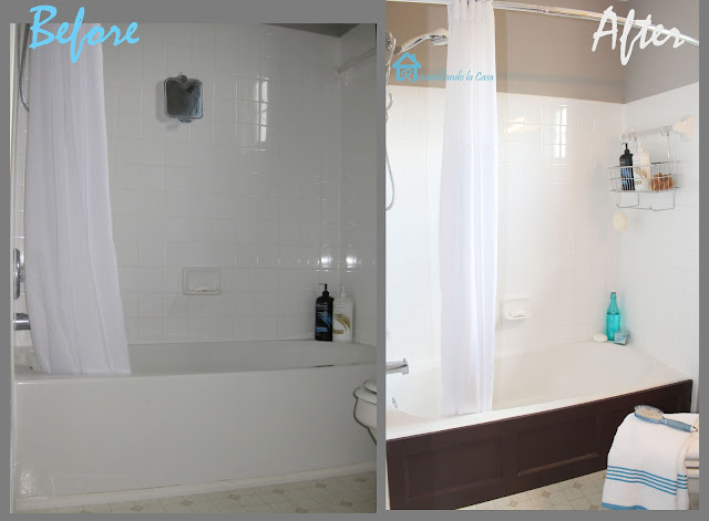 remodelando la casa bathtub wood panel cover