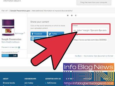 Cara Masukkan File Power Point ke dalam Posting Blog