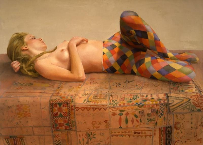 D.W.C. Figurative Nude - Painter Sharon Sprung