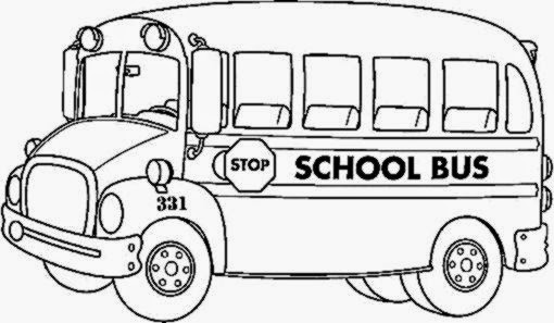 School bus coloring pictures free coloring pictures for School bus coloring page