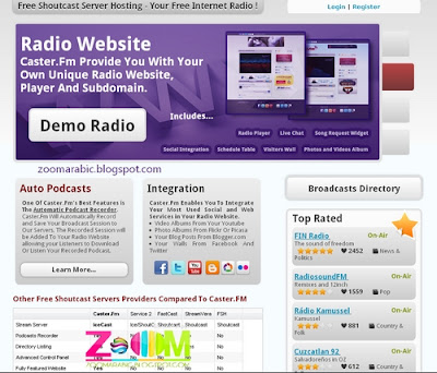 FREE Shoutcast Hosting Servers, Unlimited FREE Internet Radio - Fm Caster