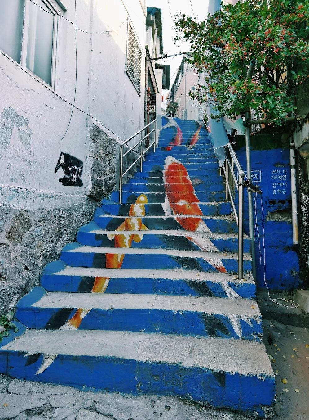 Pretty neighbourhood ihwa mural village life is an for Mural village