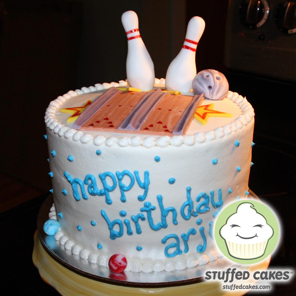 Bowling Themed Birthday Cake Ideas