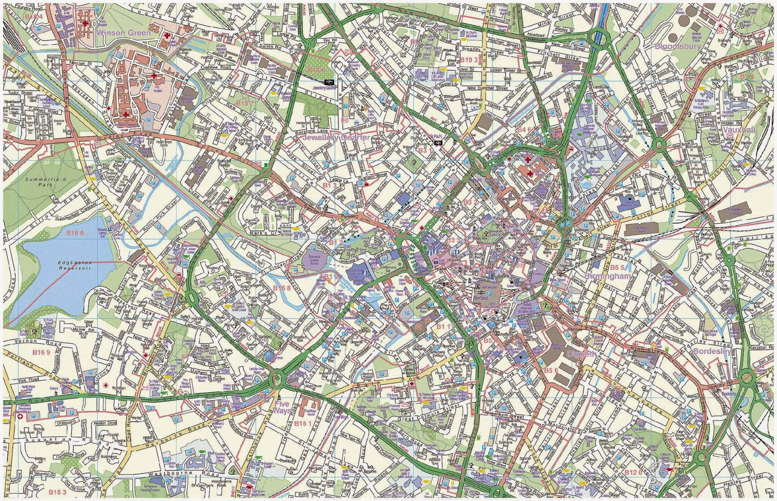 street map of birmingham city uk