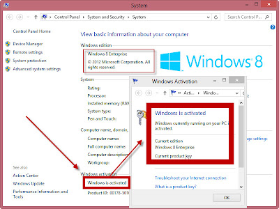 aktivasi Windows 8 Permanen
