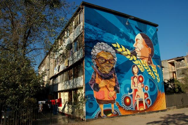 street art santiago de chile san miguel museo abierto arte callejero mujeres