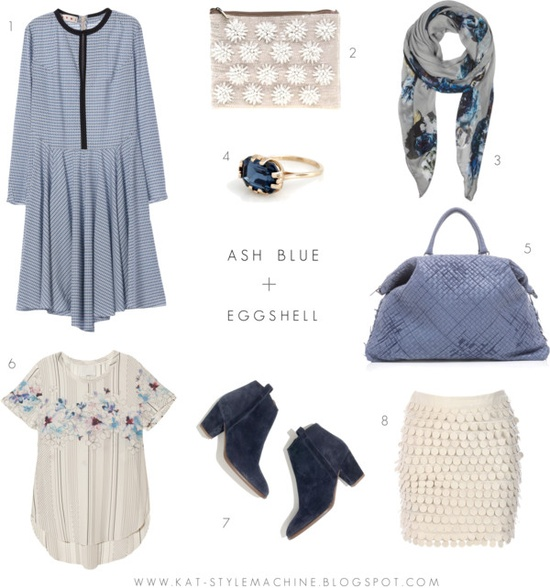 Color trend for spring with floral prints, white, and blue