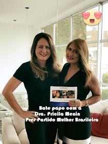 Pricila Menin - Pres Partido da Mulher Brasileira Bate Papo com Jo Ribeiro