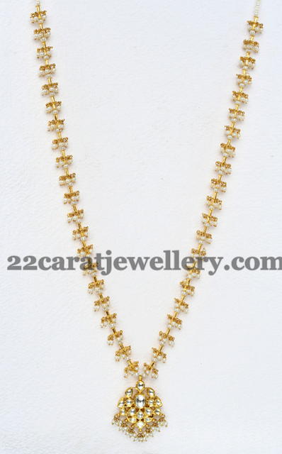 simple pearls set by mangatrai   jewellery designs