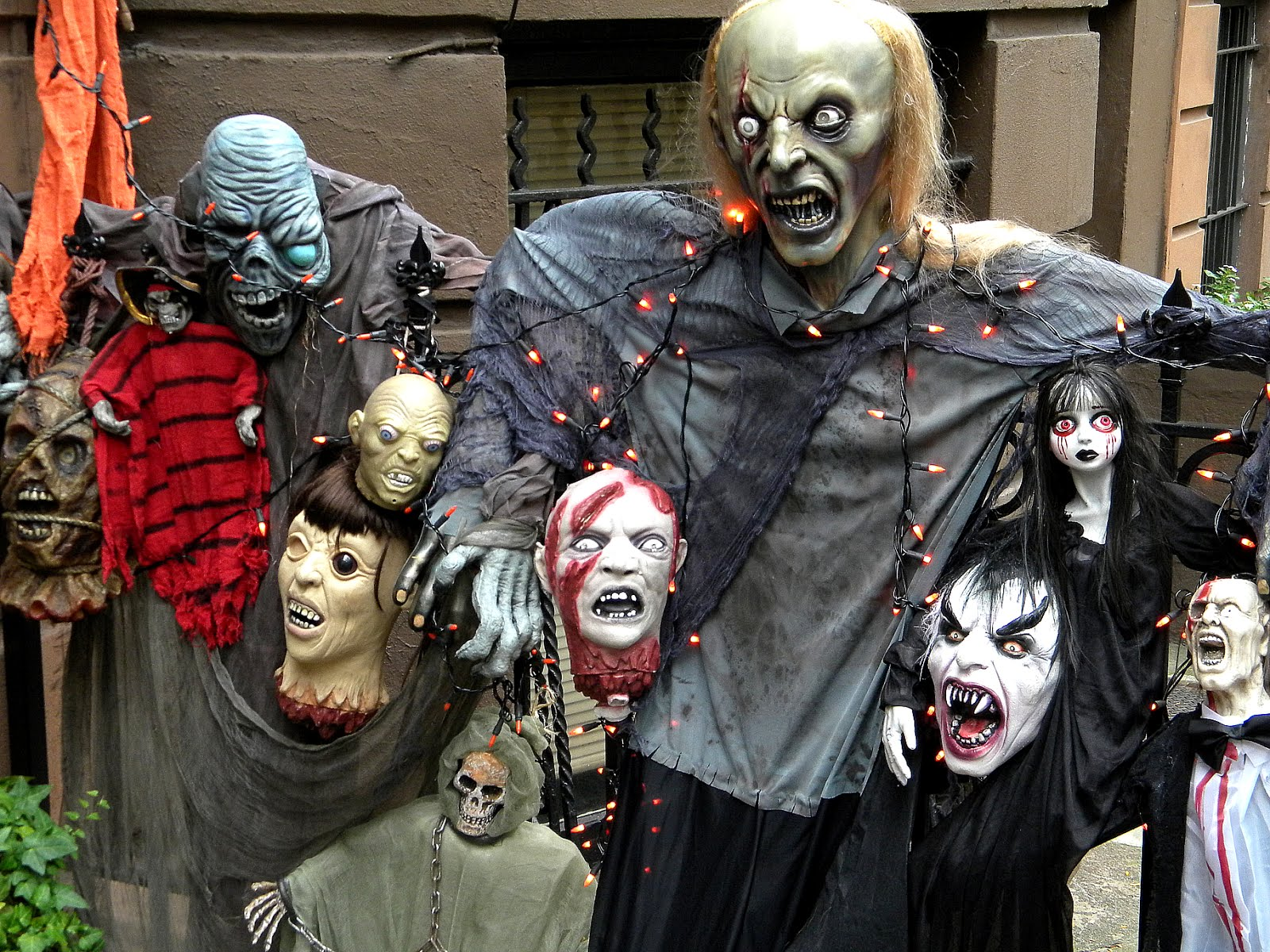 Happy Halloween Friends Matrix zombies, ghouls and demons