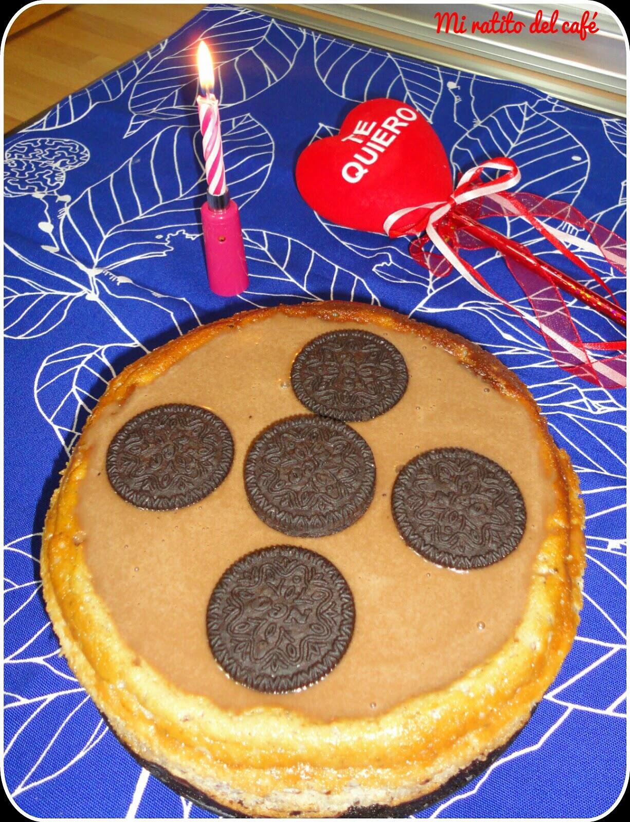 Cheesecake de oreo, baileys y chocolate