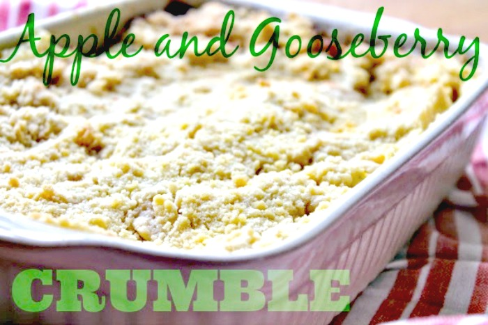 Apple and Gooseberry Crumble