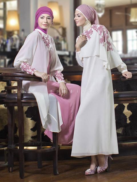 Model Baju Gamis Brokat Bahan Sifon Murah