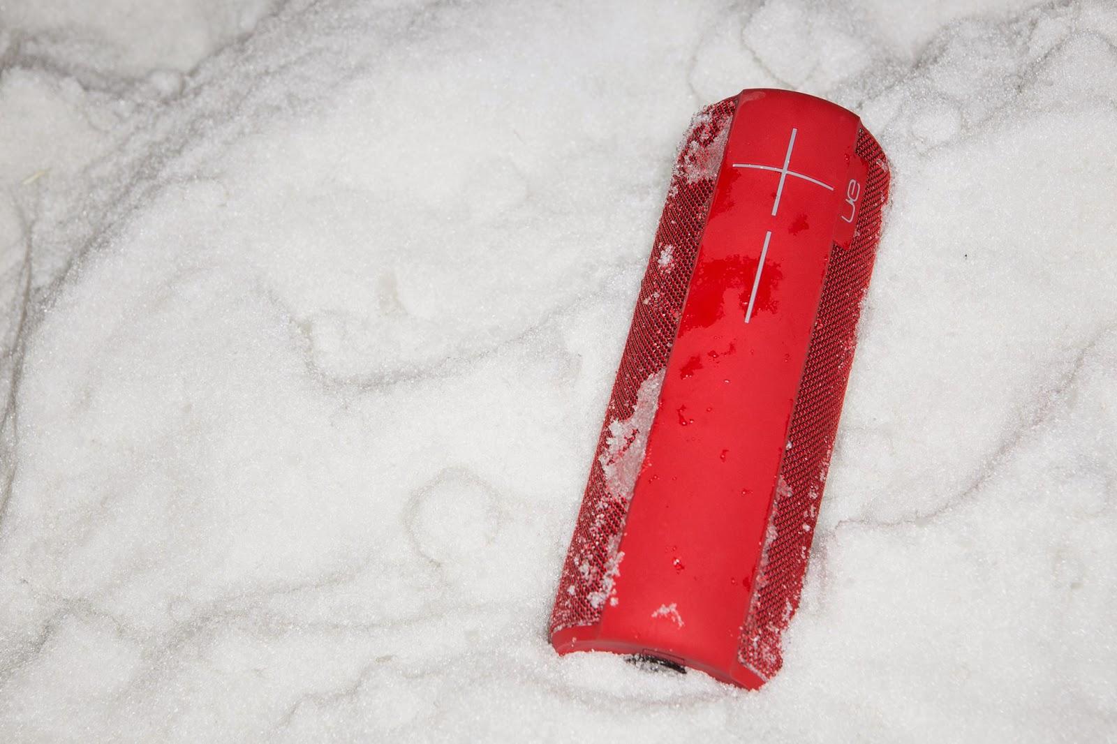 UE Megaboom on snow