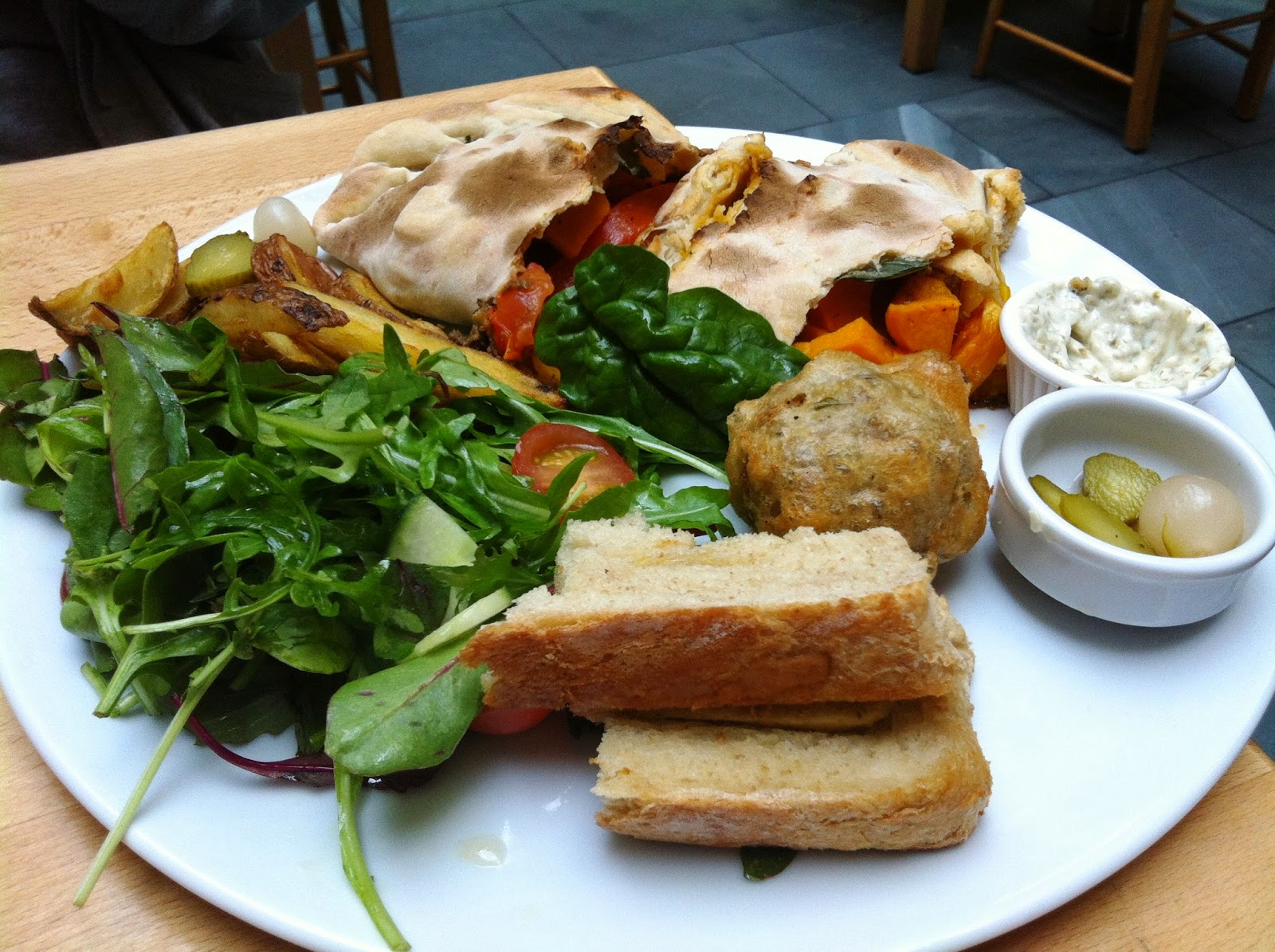 Vegan Food at Saramago Cafe Bar Glasgow, Scotland