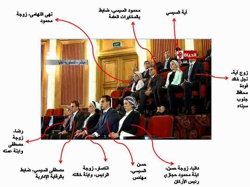 بالفيديو و الصور..اسرة الرئيس عبد الفتاح السيسي لأول مرة في مراسم تنصيبه